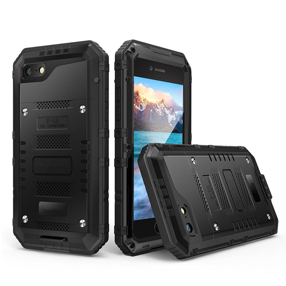 Stoßfest Wasserdichte <font><b>IP68</b></font> Heavy Duty Hybrid Tough Robuste Rüstung Metall Telefon Fall für <font><b>iPhone</b></font> X 8 7 6 6s plus 5 5s SE Abdeckung Coque image