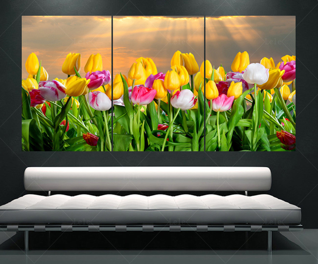 living room paintings. triptych tulip posters and prints for the living room paintings on canvas  retro decor wall flower Living Room Paintings Wall Art Designs For