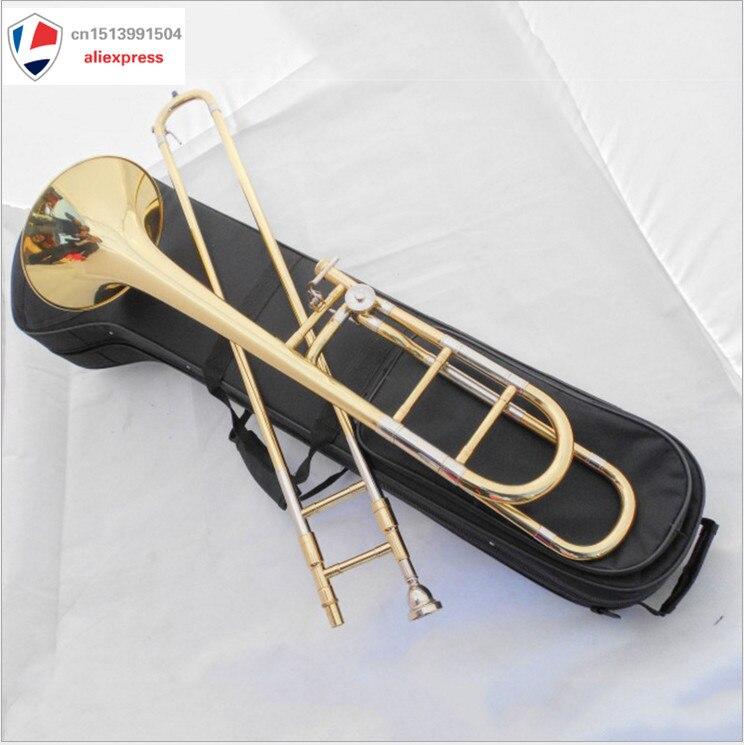 Trombone Tenor Bb/F chave grande técnica de som Profissional corpo de bronze