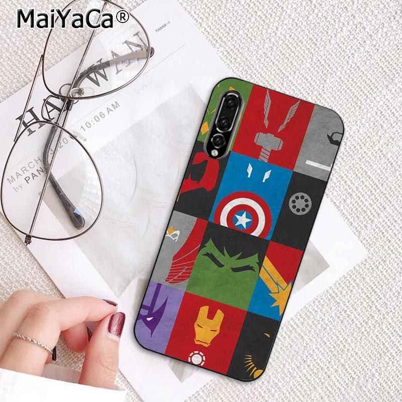 MaiYaCa Deadpool Marvel Avengers Homem de ferro Caixa Do Telefone para Huawei P20Lite P30Pro P Inteligente Y5 Y6 Honor8A 8C Nova3 10i mate20Lite