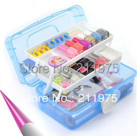 2018 Large  boxs Two layers of nail art Tool box the translucent Toolbox Cosmetic Case / storage Large Big box