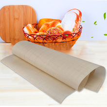 Многоразовая Стекловолокно ткань не-Противоскользящий коврик многоцелевой барбекю коврик антипригарный противень 60*40 см FBE2