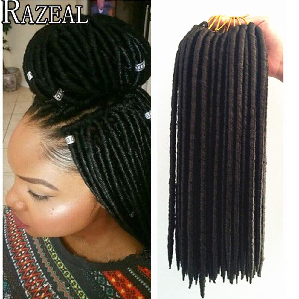 18 Inch 24 Roots 100gpack Faux Locs Crochet Black Dreadlocks Hair