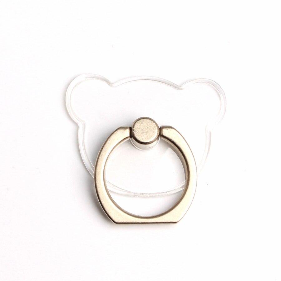 Кольцо-держатель мобильного телефона, подставка, держатель для мобильного телефона для iPhone, huawei, Xiaomi, кольцо-держатель для телефона, автомобильный мобильный телефон, поддержка смартфона - Цвет: Transparent bear