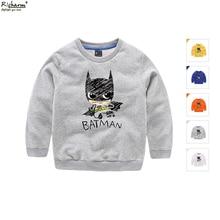 Marque de mode Automne Enfants Chemise Mignon Batman Bat Man Garçons T-shirt Bébé Enfant Garçons Vêtements Coton À Manches Longues T chemises