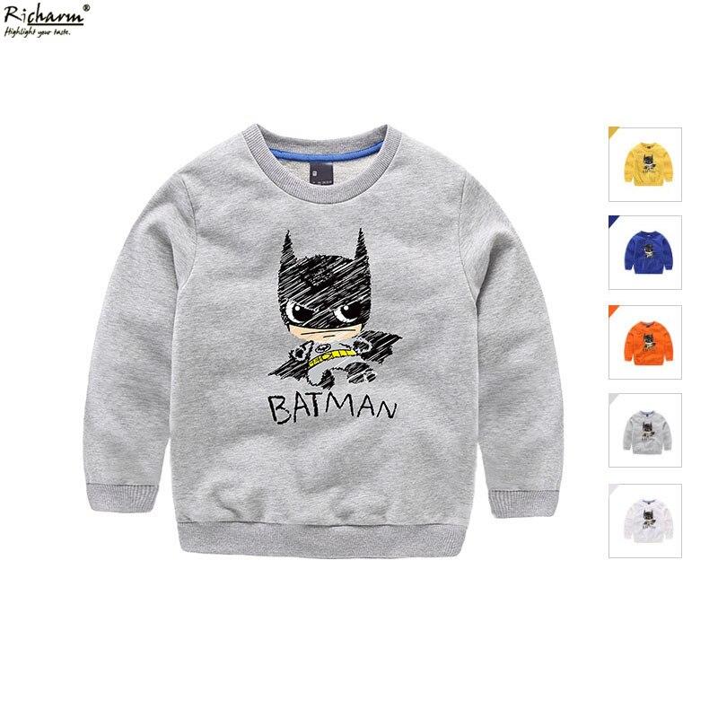 Fashion Brand Autumn Kids Shirt Cute Batman Bat Man Boys T Shirt Baby Toddler Boys Clothes Cotton Long Sleeve Tee Shirts
