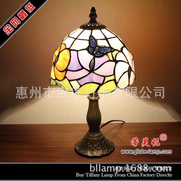 online shop tiffany glas in lood vlinder kleine nachtkastje lamp, Meubels Ideeën