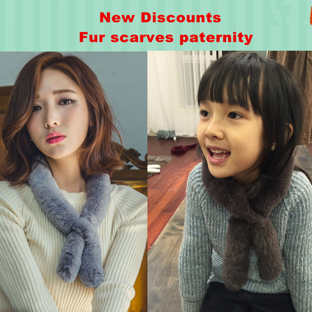 2016 new paternity Scarves Korean women simple solid color short paragraph collar real fur scarf