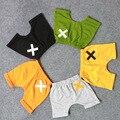 1-6 yre algodón nuevo 2016 verano niños pantalones cortos para niños pantalones cortos de los bebés de corta de colores muchachos niño pantalones cintura elástica