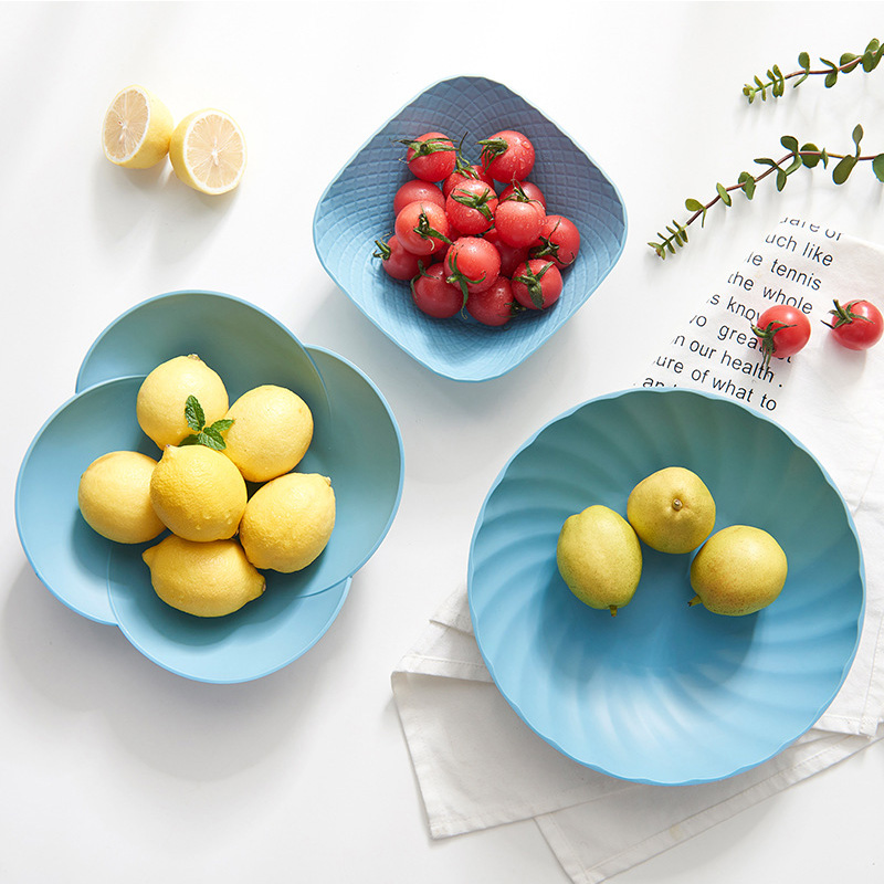 Food Tray Plastic Serving Platter Cake Stand Tray Dessert Tray Square Round Candy Pan Tea Party Fruit Tray In Part Kitchen Tool serving tray