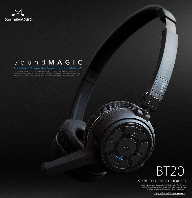 3bbda8ec4ca Genuine Soundmagic bt20 headset bluetooth wireless headphone earphones With  Double microphone Support NFC function-in Earphones & Headphones from  Consumer ...