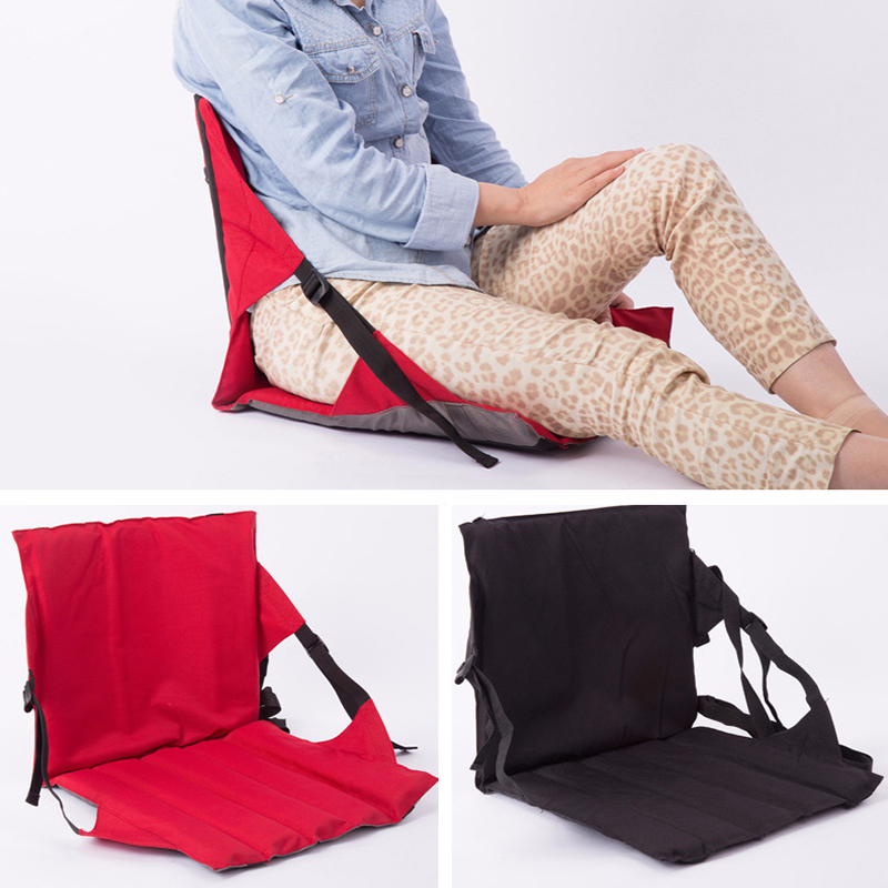 Foldable Outdoor Cushion Chair with Backrest Portable High Quality Oxford Cloth Adjustable Folding Seat 4