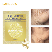 LANBENA hot sale 30 Grain 24K Gold Peptide Wrinkles Eye Ampoule Capsule Dark Circle Patches Anti-Aging Fine Lines  Cream