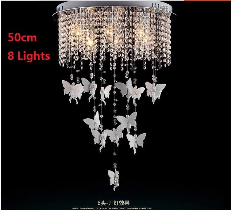 Creative Angel Butterfly Crystal Ceiling Lights Modern Led E14 ...