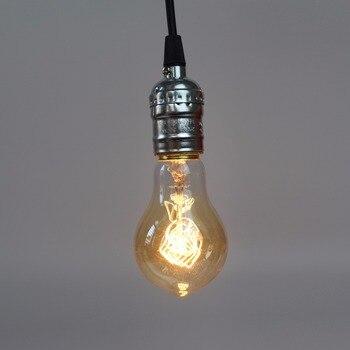 Aluminum Vintage Lamp Base E27 110V/220V Lamp Holder Pendant Light With Switch/No SwitchScrew Socket 3 Colors Bed Room lamps 3