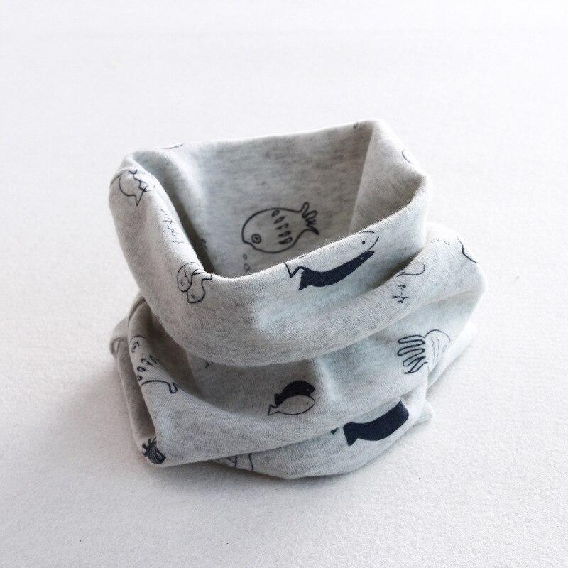 Осенне-зимний детский хлопковый шарф для девочек и мальчиков теплые шарфы Детский круглый кольцевой ошейник Детский шарф детский волшебный шейный платок - Цвет: fish 9
