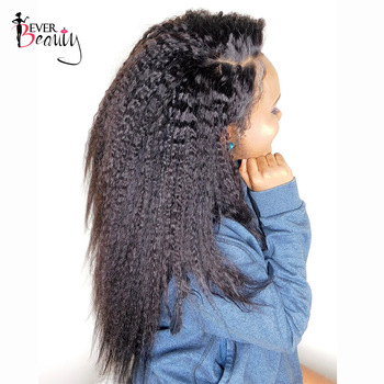 Kinky Straight Clip In Human Hair Extensions Peruvian Remy hair 7Pcs/120g Coarse Yaki 100% Human Natural Hair Ever Beauty
