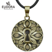 Eudora 20mm Copper Lock Ball Harmony Bola Pendant Necklace Chime Balls for Pregnancy Women Baby Vintage Jewelry N14NB343
