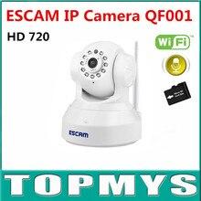Бесплатная Доставка ESCAM QF001 Full HD 720 P Ip-камера P2P Wirless wi-fi Home Security CCTV Камеры встроенный Микрофон Поддержка IOS Smart телефон