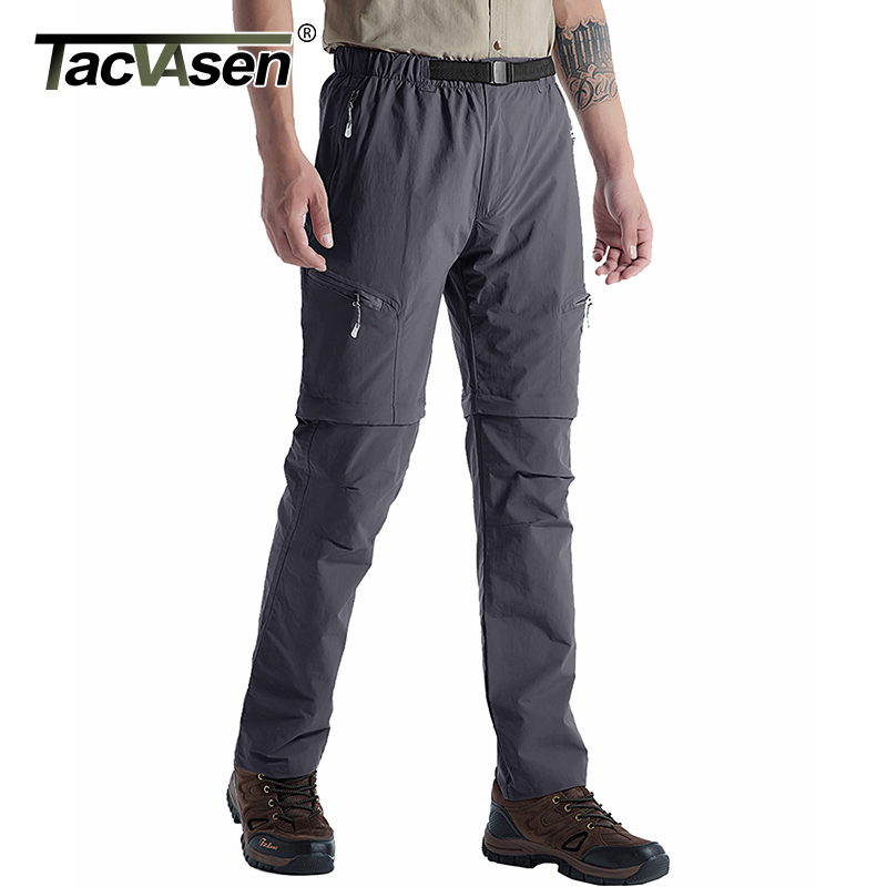 TACVASEN Men Brand Military Pants Removable Quick Drying Tactical Pants Male Summer Casual Short Pants Breathable Cargo Trousers