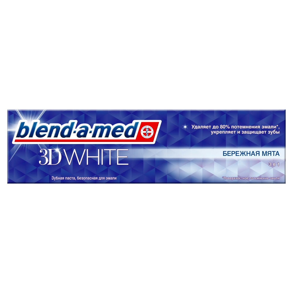 Toothpaste Blend-a-med 3D White Bleaching Mint 100ml qutaa 2018 women pumps flock square med heel shoes cross strap pointed toe elegant black white ladies casual shoes size 34 39