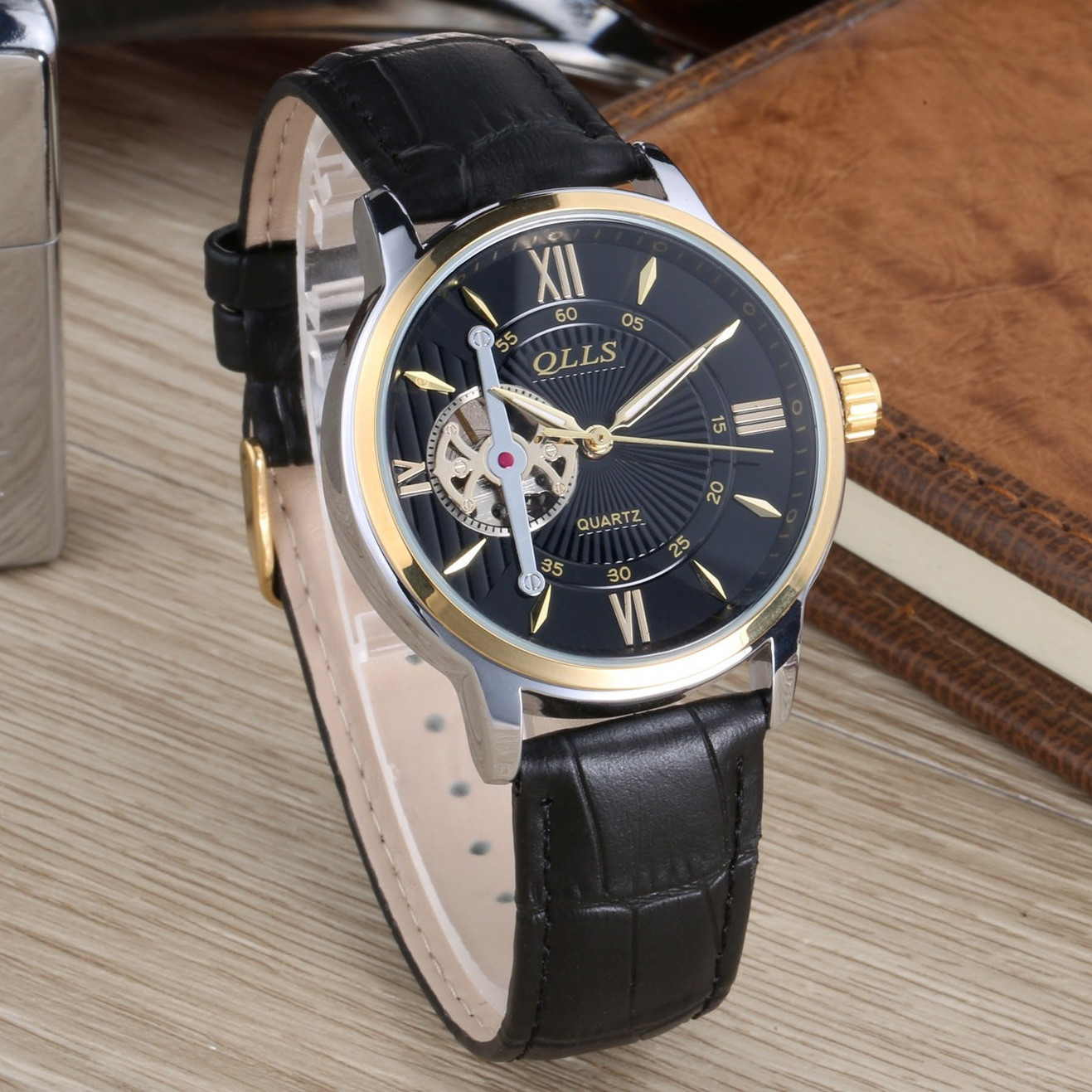Reloj Hombre QLLS Tourbillon luxury brand Mens Watches Automatic Watch Gold Case Male Clock Mechanical Watch Relogio Masculino luxury watch men automatic mechanical watches qlls brand skeleton male clock military sport wristwatch reloj hombre