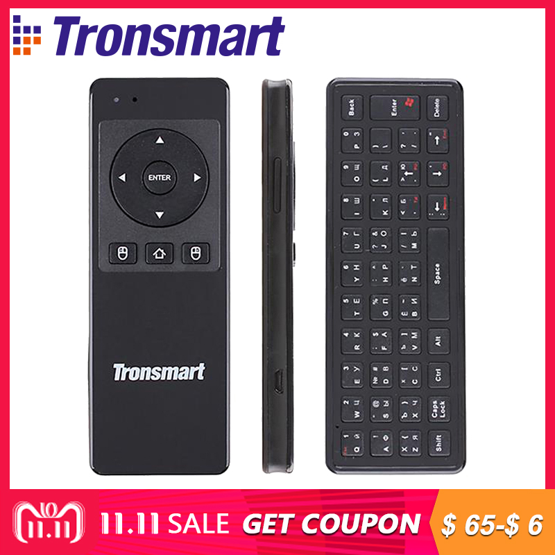 Russina / English Version Tronsmart TSM-01 Wireless Keyboards Game Air Mouse 2.4GHz for Laptop Android Tablet PC TV Box a95x a1 4k tv box tronsmart tsm01 air mouse