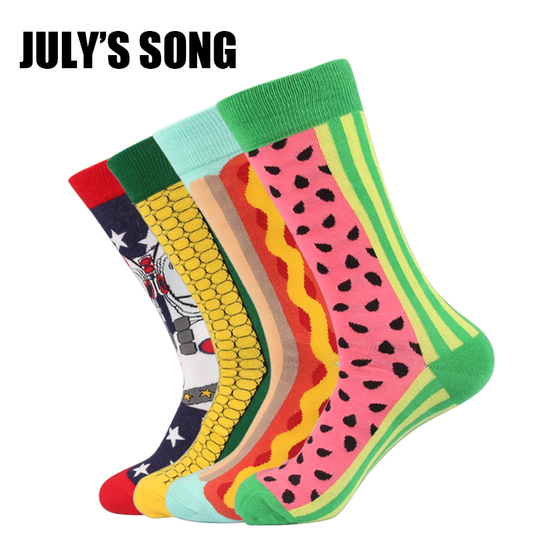 JULYS SONG Happy Socks Men Funny Socks EU Size 8-12 US Size 40-46