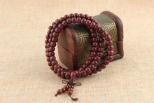 108*8mm Purple Heart Prayer Beads Tibetan Buddhist Mala Bracelet Buddha Rosary Necklace Bangle Wodden Jewelry