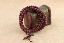 108*8mm Purple Heart Prayer Beads Tibetan Buddhist Mala Bracelet Buddha Rosary Necklace Bangle Wodden Jewelry