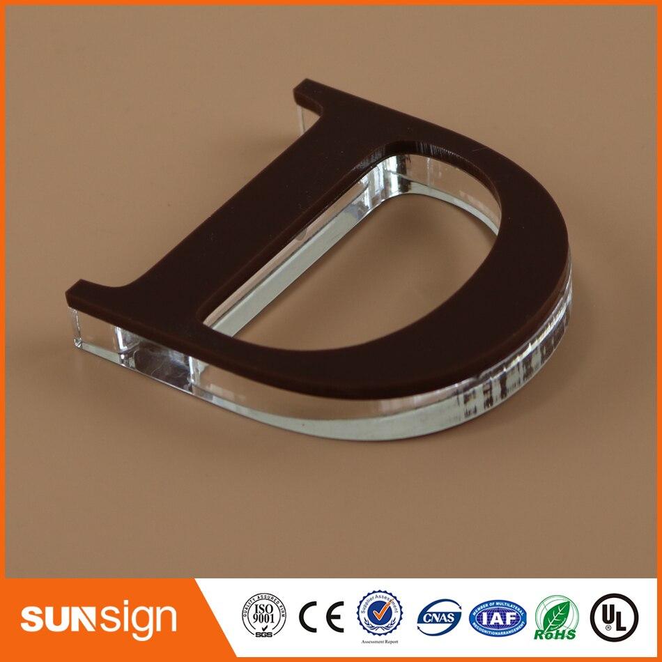 Оптовая продажа декоративных логотип компании знак акриловые письмо