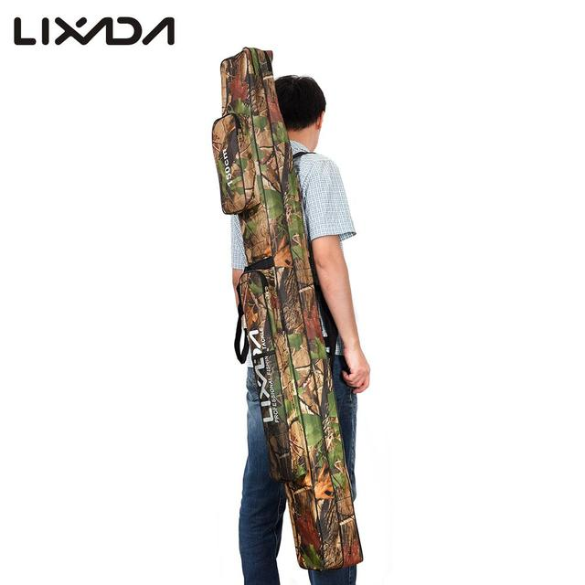 Best Offers Lixada Double Layer Rod Bags Large Capacity Fishing Rod Tackle Bag 120/150cm Fishing Bag