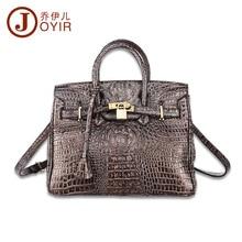 32x23CM Top quality Cowhide Genuine Leather Fashion alligator  Crocodile  Women Shoulder  Bags Trend Platinum Handbag  A2541~1