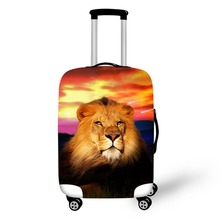 Lion Design Travel Accessories Suitcase Protective Covers 18-32 Inch Elastic Luggage Dust Cover Case Stretchable недорого