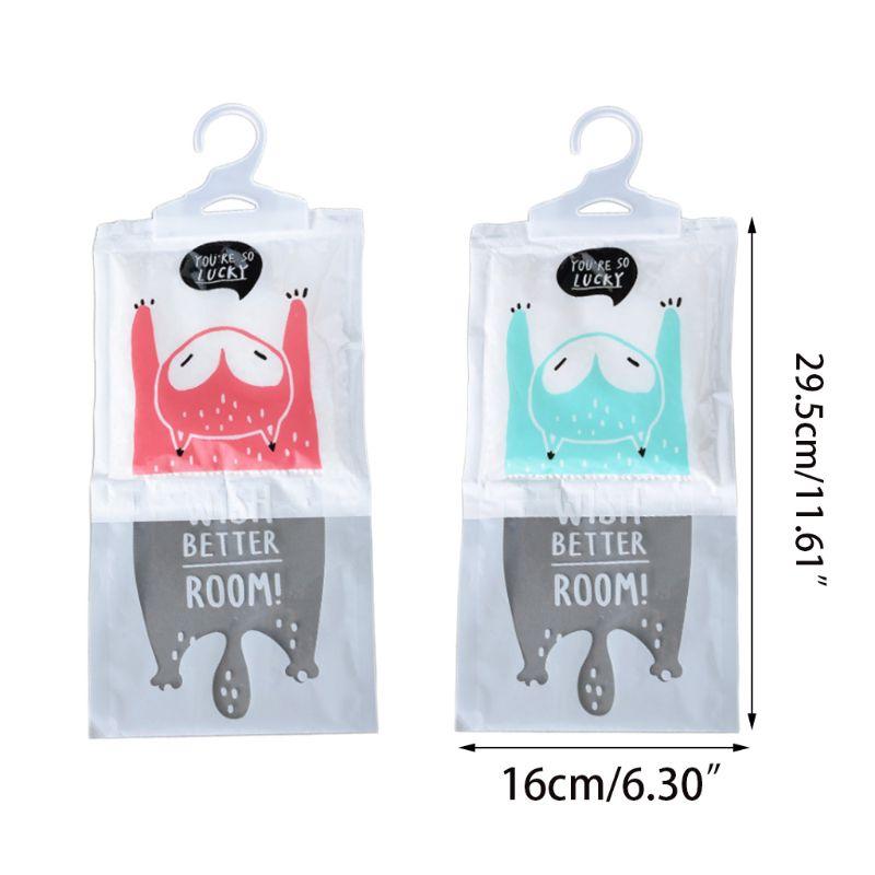1 Pack Cute Cartoon Desiccant Bag Kitchen Bathroom Wardrobe Hanging Hygroscopic Anti-Mold Deodorizing Moistureproof Dehumidifier