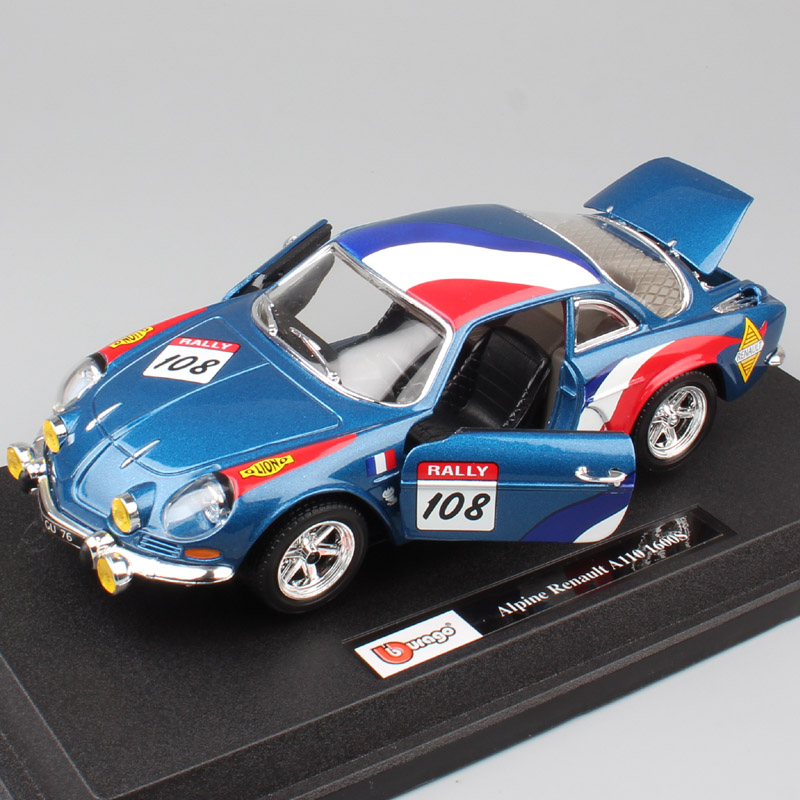 1:24 Scale RENAULT Alpine A110 1600S Rally Race car No.108 diecast wrc styling models & vehicles auto cars toy Replicas for kids1:24 Scale RENAULT Alpine A110 1600S Rally Race car No.108 diecast wrc styling models & vehicles auto cars toy Replicas for kids