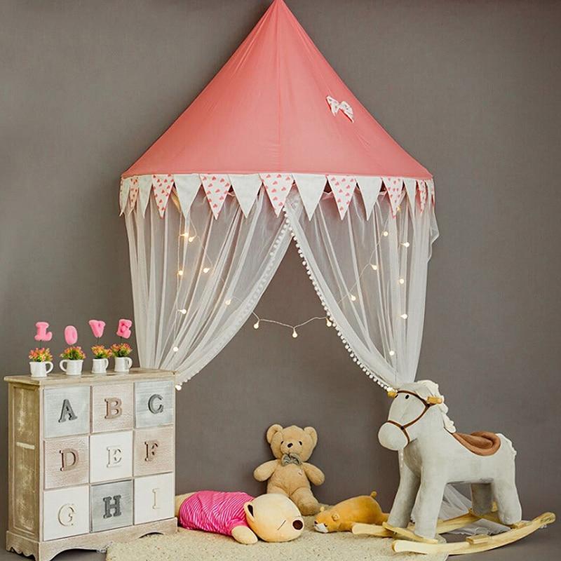 Boys Girls Summer Netting Portector Baby Crib Mosquito Net For Infants Newborn Portable Folding Canopy Children's Bed Wigwam