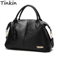 Tinkin New Arrival High Capacity Women Shoulder Bag Soft Casual Handbag Daily Use Totes All Match