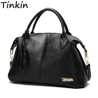 Tinkin New Arrival High Capacity Women Shoulder Bag Soft Casual Handbag Daily Use Totes All Match
