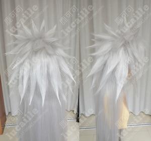 Image 5 - Аниме Наруто джираия длинный белый конский хвост термостойкие Sythentic волосы косплей костюм парики парик