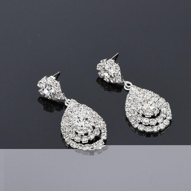 Купить серьги подвески chicvie с искусственными кристаллами и камнями