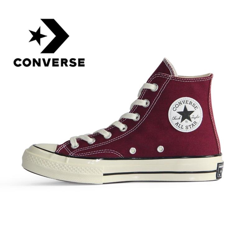 Original Authentic Converse 1970s All Star Canvas Unisex Skateboarding Shoes Retro High-top Classic Non-slip Top Quality 160492C