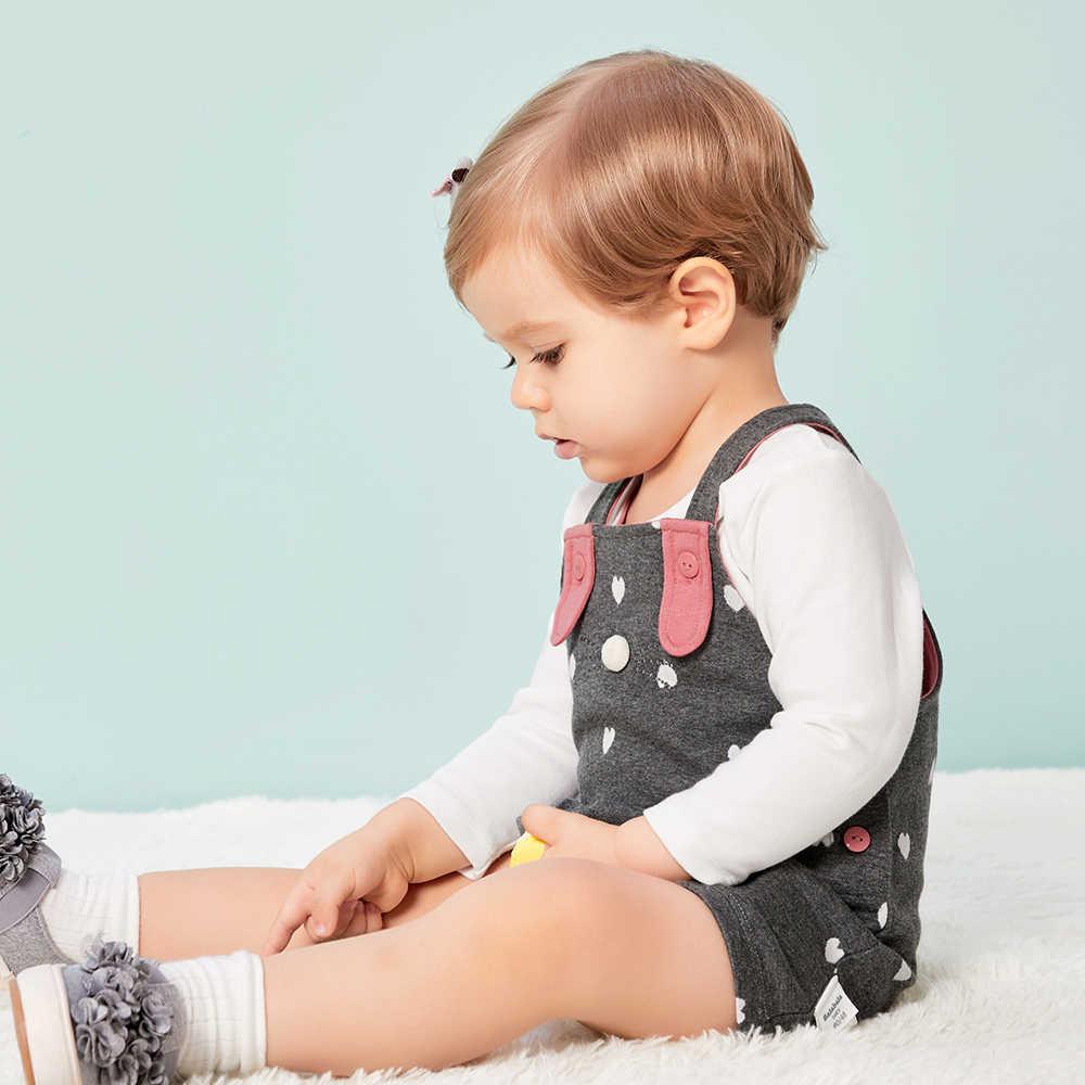 Baby Herfst Kinderen Pak Voor Meisjes 2018 Nieuwe Baby Kleding tweedelige Tops + Bib Mode Schattige Baby Past katoen Zacht Levendig Meisje
