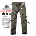 New Brand 2016 Mens Tactical Cargo Pants Casual Outdoor Pants Military Army Cargo Camo Combat Work Fashion Men's Baggy Trousers