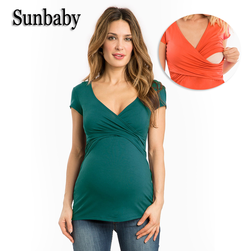 Summer Fashion Maternity Clothes Elegant Nursing Clothes for pregnant women Casual Breastfeeding clothes for pregnancy T616
