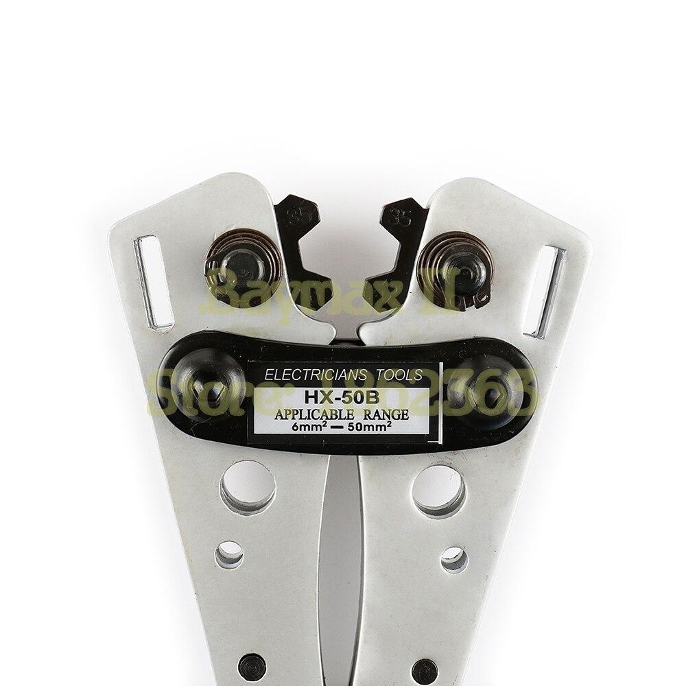 HX 50B Wire Terminal Crimping Tool 6 50mm2 Cable Lug Crimper Cu/Al ...