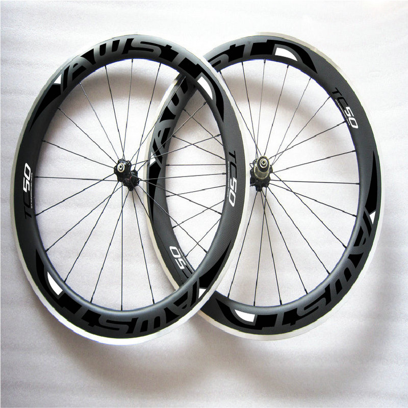 2017 newest style road bike carbon frame 50mm black bicycle wheels clincher 700C aluminum rim with ceramic bearing hubs wheels велосипедное колесо oem 1 700c 50 powerway r36 50mm clincher rim r36 ceramic bearing hubs