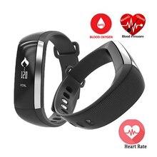 Zeblaze M2 Inteligente Muñequera Pulsera Reloj de la Aptitud Del Ritmo Cardíaco Del Pulso de La Presión Arterial Metros para iOS Android PK Fitbits ID107 PA343