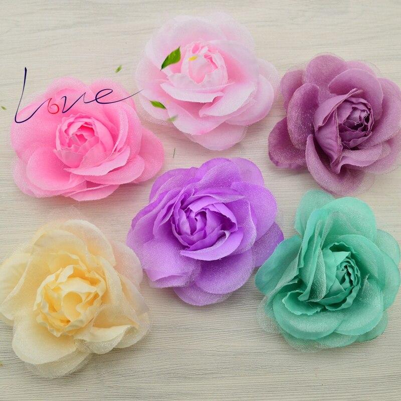 Flores art cheap roses DIY corsage clothing accessories wedding car decoration artificial flower head