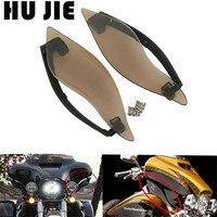 Motorcycle Smoke Black ABS Side Wings Air Deflectors For Harley Electra Glide Street Glide Tri Glide 2014 2018 15 16 17